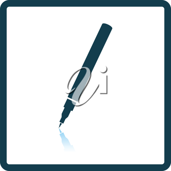 Liner pen icon. Shadow reflection design. Vector illustration.