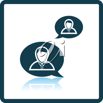 Chating businessmen icon. Shadow reflection design. Vector illustration.