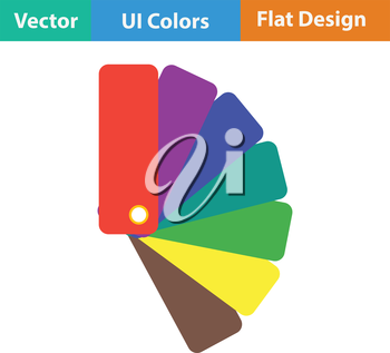 Color samples icon. Flat color design. Vector illustration.
