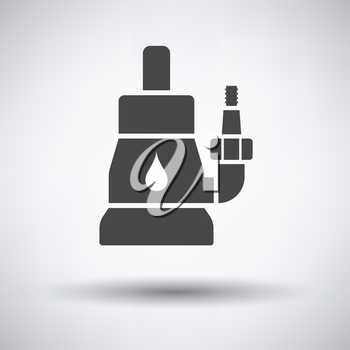 Submersible water pump icon on gray background with round shadow. Vector illustration.