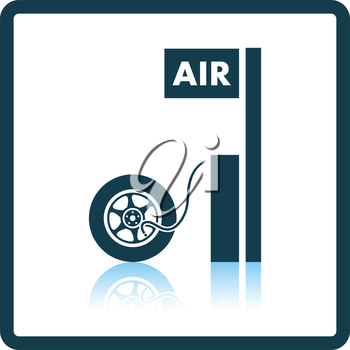 Wheels pump station icon. Shadow reflection design. Vector illustration.