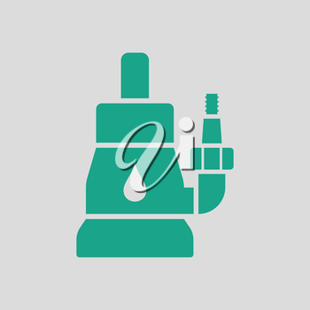 Submersible water pump icon. Gray background with green. Vector illustration.
