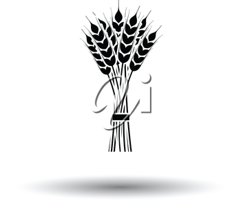 Wheat icon. White background with shadow design. Vector illustration.