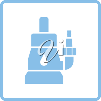 Submersible water pump icon. Blue frame design. Vector illustration.