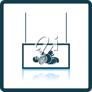 Vegetables market department icon. Shadow reflection design. Vector illustration.