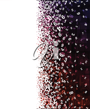 Royalty Free Clipart Image of a Numerical Background