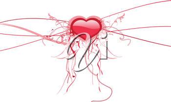 Royalty Free Clipart Image of an Abstract Heart Background
