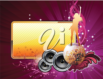 Royalty Free Clipart Image of an Entertainment Background