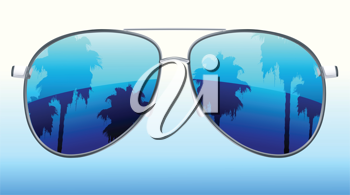 Royalty Free Clipart Image of Aviator Sunglasses