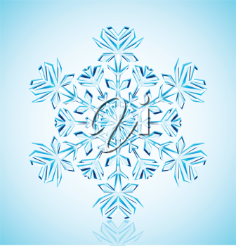Royalty Free Clipart Image of a Snowflake