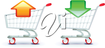 Royalty Free Clipart Image of Shopping Carts