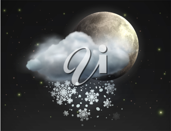 Royalty Free Clipart Image of a Night Sky