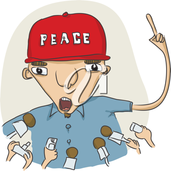 Royalty Free Clipart Image of a Man Speaking