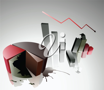 Royalty Free Clipart Image of Financial Charts