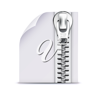 Vector illustration of interface computer zip file icon