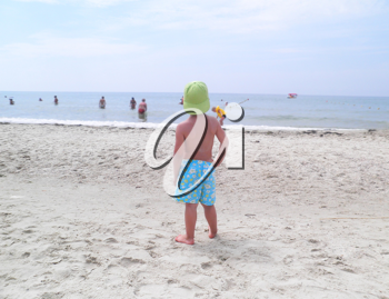Royalty Free Photo of a Boy on the Beach