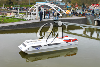 HAGUE, NETHERLANDS - APRIL 7: Tourists visit the Madurodam's exposition on April 7, 2012 in Den Haag, Netherlands.