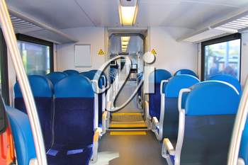 Royalty Free Photo of Seats in a Railroad Car