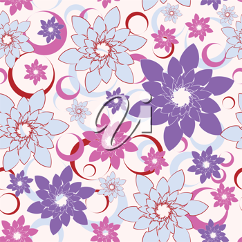 Royalty Free Clipart Image of a Abstract Flower Background