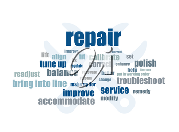 repair related words abstract vector illustration