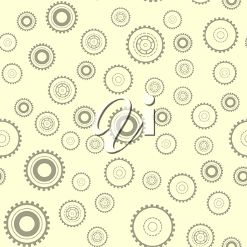 Gear machine elements seamless pattern. Technical vector background. Modern teamwork collaboration success symbol.
