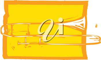 Royalty Free Clipart Image of a Trombone