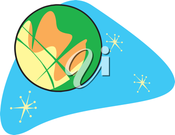 Royalty Free Clipart Image of Planet Mars