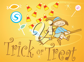 Royalty Free Clipart Image of a Halloween