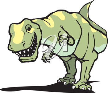 Royalty Free Clipart Image of a Tyrannosaurus Rex