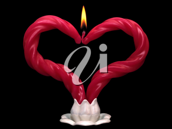 Royalty Free Photo of a Heart Shaped Candle
