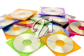 Royalty Free Photo of a Stack of CDs