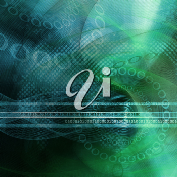 Royalty Free Clipart Image of a Background With Binary Numbers