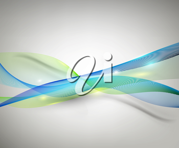 Abstract Design Background With Smooth Lines