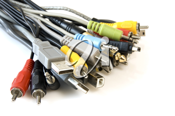 Royalty Free Photo of a Bunch of Cables