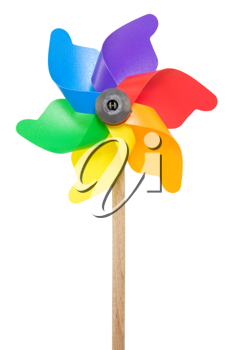 Royalty Free Photo of a Colorful Windmill