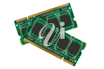 Royalty Free Photo of Two Computer Memory Modules
