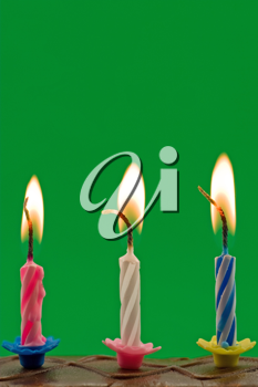 Royalty Free Photo of Candles on a Birthday Cake