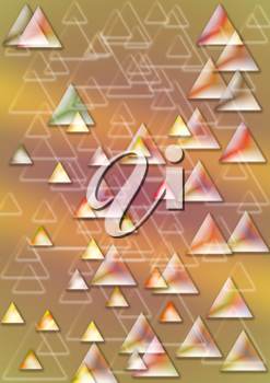 Royalty Free Clipart Image of a Background of Many Triangles