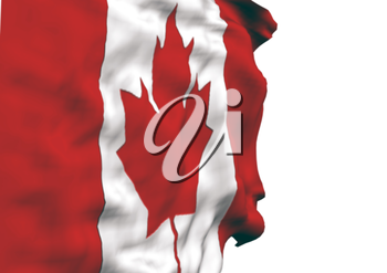 Image of a waving flag of Canada