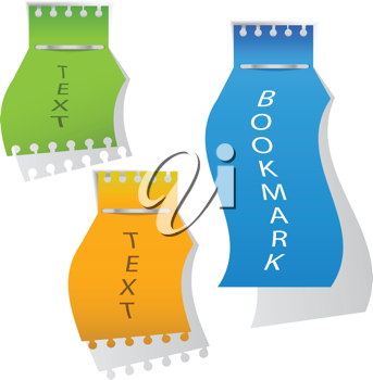 Royalty Free Clipart Image of Bookmarks