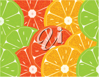 Royalty Free Clipart Image of Citrus Fruits