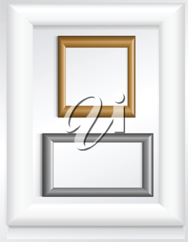 Royalty Free Clipart Image of Frames