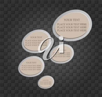 Royalty Free Clipart Image of Text Templates