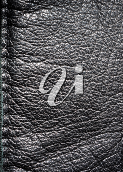 Leather cloth element for texture or background