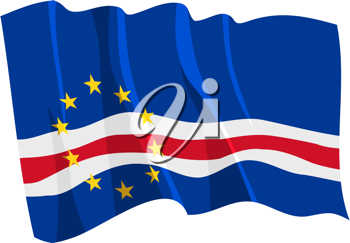 Royalty Free Clipart Image of a Cape Verde Flag