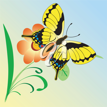 The illustration of an abstract natural background