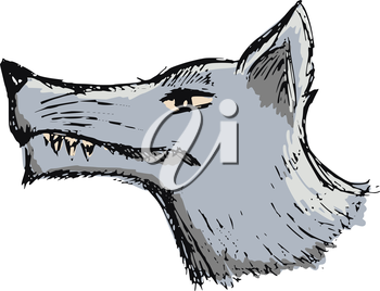 Royalty Free Clipart Image of a Wolf