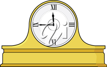 vector illustration of mantel clock