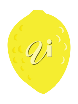 Vector, colored illustration of lemon. Flat style. Motives of food and drinks, kitchen and restaurant