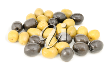 Royalty Free Photo of Black and Green Olives
